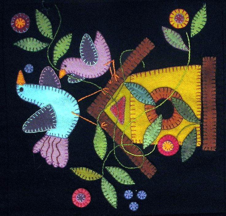 We get you sewing at PatternSpot.com - Sewing, Quilting, Garment Patterns, Projects, Ideas, Tutorials, Videos  Wool applique
