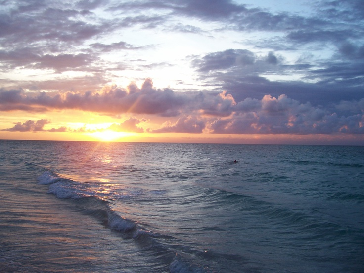 Cuba, sun set