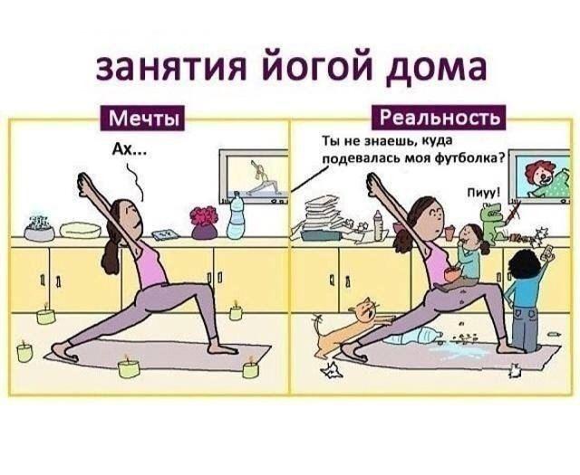 Смешная картинки про йогу, день