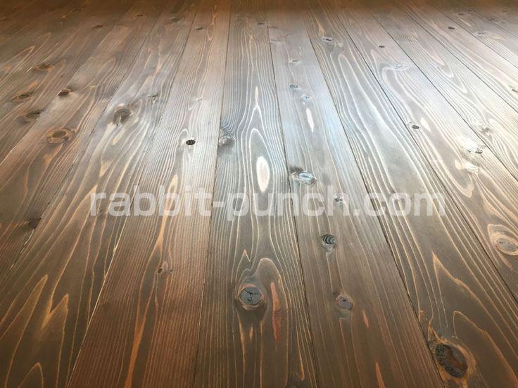 無垢フローリング床にユーロカラーを塗装 目の錯覚で空間を広く見せる Rabbit Punch 無垢 フローリング フローリング 床