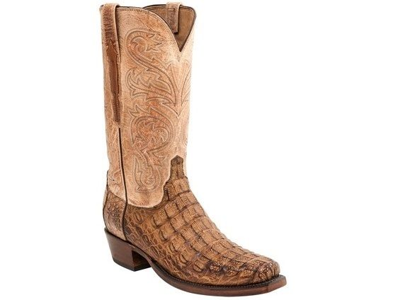 Lucchese Since 1883 Heritage Hornback Tan Caiman Boots