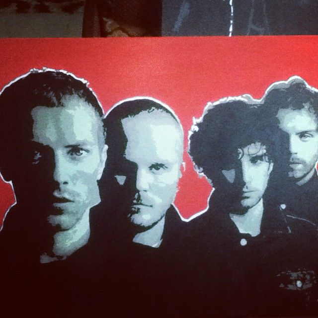 """""""Love the way this turned. throwback 2012... Coldplay painting 4*3ft.  #coldplay #chrismartin #band #music #rock #painting #streetart #urbanart #art #love #canvasart #hoozinc #whatwedo"""" Photo taken by @hoozinc on Instagram, pinned via the InstaPin iOS App! http://www.instapinapp.com (04/30/2015)"""