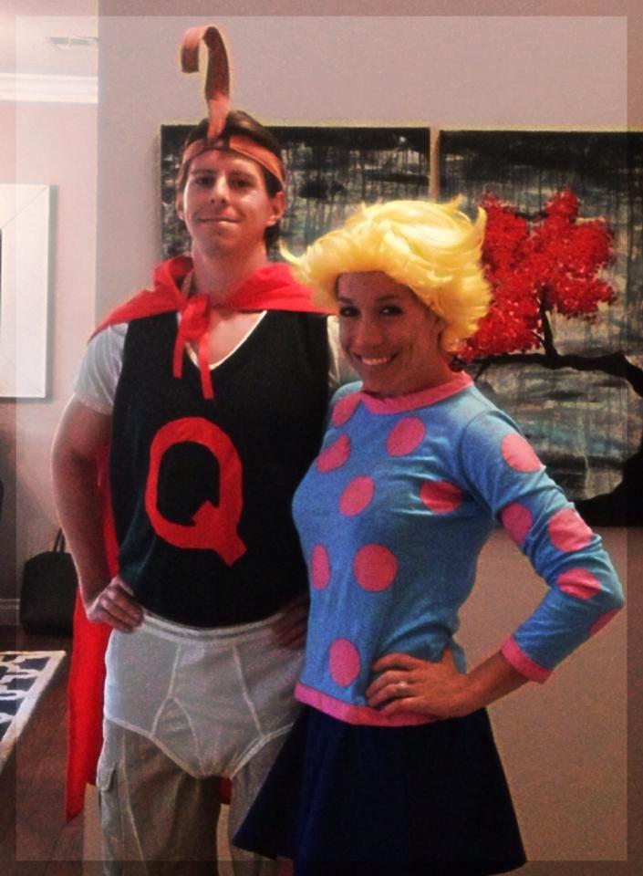 DIY couples costumes - Quailman and Patty Mayonnaise