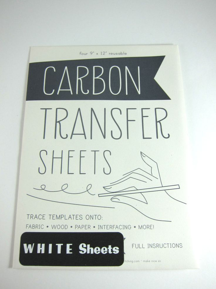 Looking to transfer an image onto fabric, wood or paper for your next creative project? Carbon transfer sheets make transfers easy. Just place your medium on the bottom, place the carbon transfer pape