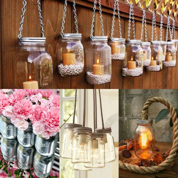 Diy Mason Jar Design Decorating Ideas: 17 Best Images About Mason Jar Craft Ideas On Pinterest
