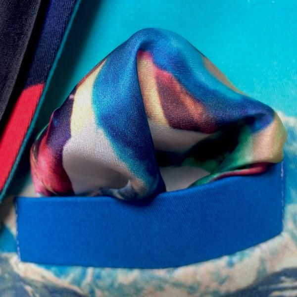 Tibetan Dream Pocket Square From Viaggi By Jase King Material Silk Satin Size 30cm