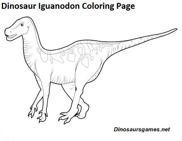 Pin By Dinosaur Games On Iguanodon Dinosaur Coloring Pages