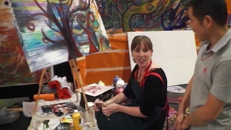 """This week interview with Rachel Sheree an Australian born, world travelled artist currently based in Sydney. We met Rachel at the Australian Art Show in October . She was showing her art  along with the artist organisation the """"Artist Hive"""". Here  is  a check interview with Rachel."""