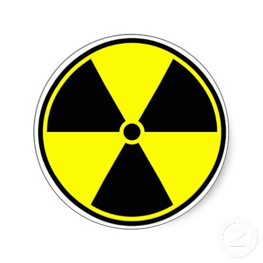 Radioactive Symbol Sticker  by #symbolical shipping to Chicago, IL #BioHazard #radioactive