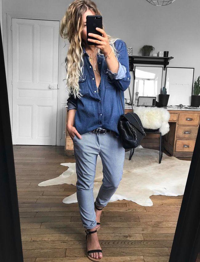 Le jean à rayures verticales, une bonne alternative au jean classique ! (jean Reiko - photo Meleponym)
