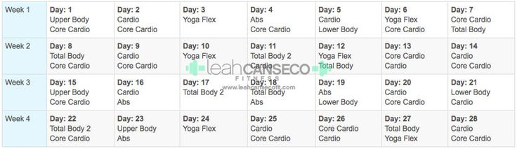 10 minute trainer 20 min schedule calendar beachbody program