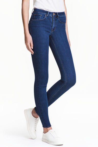 Super Skinny Regular Jeans - Azul denim oscuro - MUJER   H&M ES
