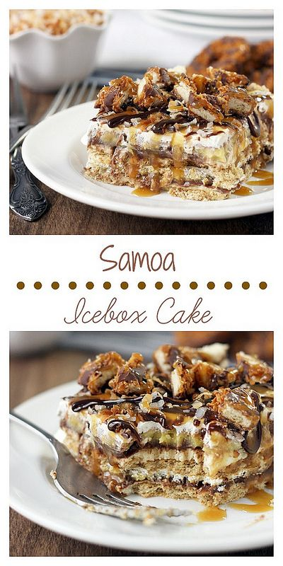 Delectable Samoa Icebox Cake