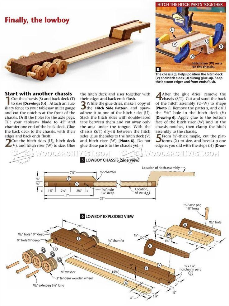 # 1791 camiones y remolques Plan de madera - Planes de madera de juguete