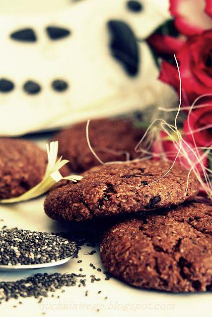 QuchniaWege: Wegańskie ciasteczka jaglane z czekoladą