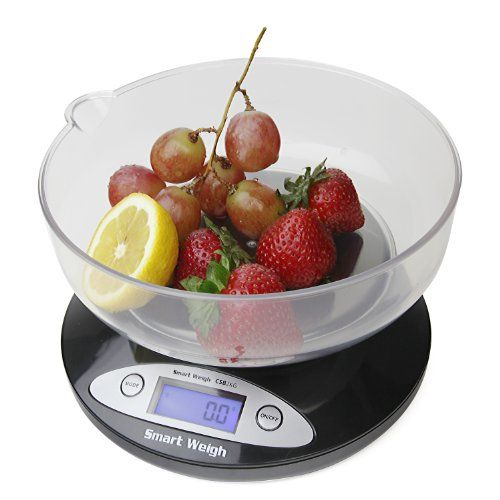 Smart Weigh CSB2KG Cuisine Digital Kitchen Scale with Removable Bowl, 2kg by 0.1g, - Designed with high quality sensors to provide the most accurate weight readings.