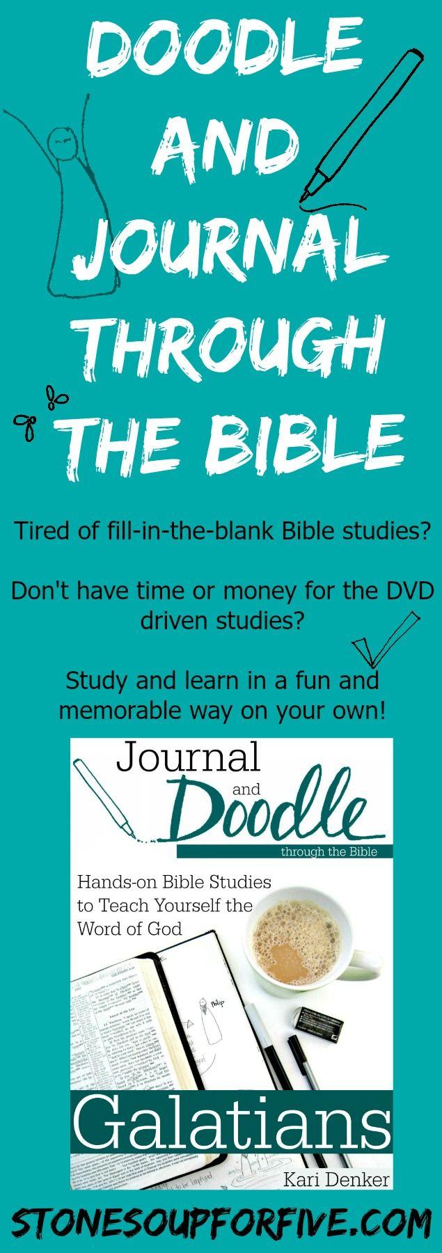 Doodle and Journal Bible Studies www.stonesoupforfive.com