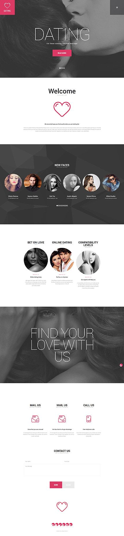 Dating • Most Popular • Espresso Web Inspiration at your Coffee Break! WordPress • Template