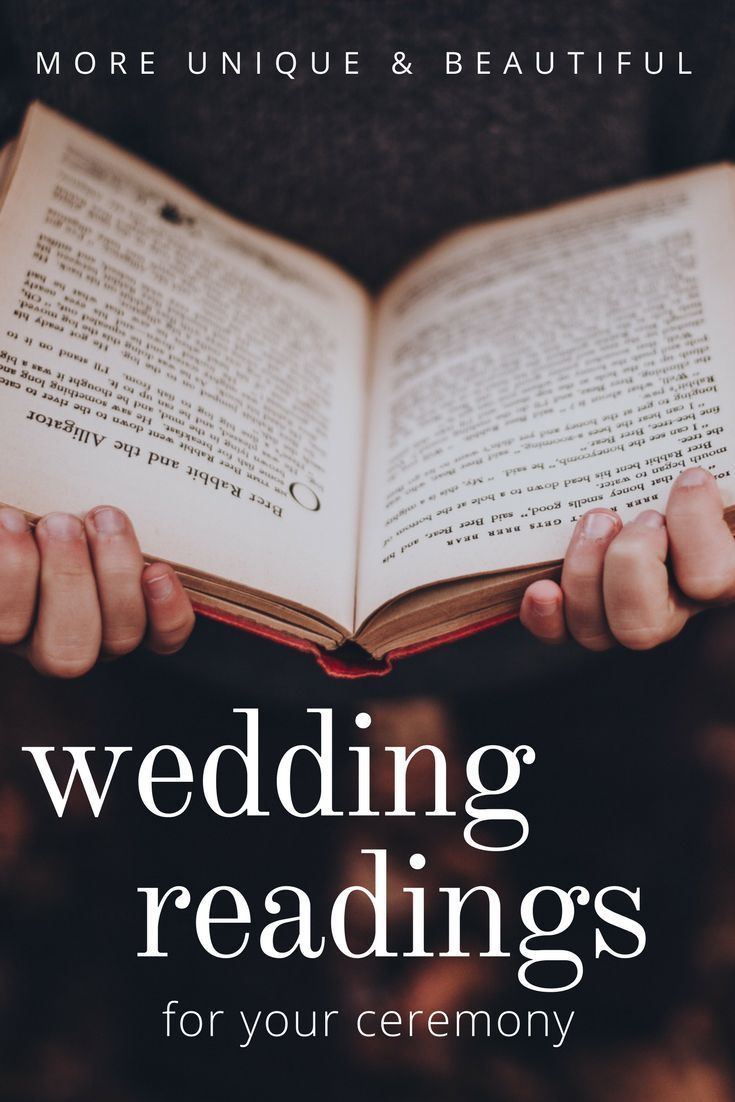MORE unique and beautiful wedding readings for