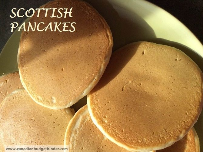 pancakes. wonderful when hot with butter. Also great when fried as part of a Scottish Breakfast.