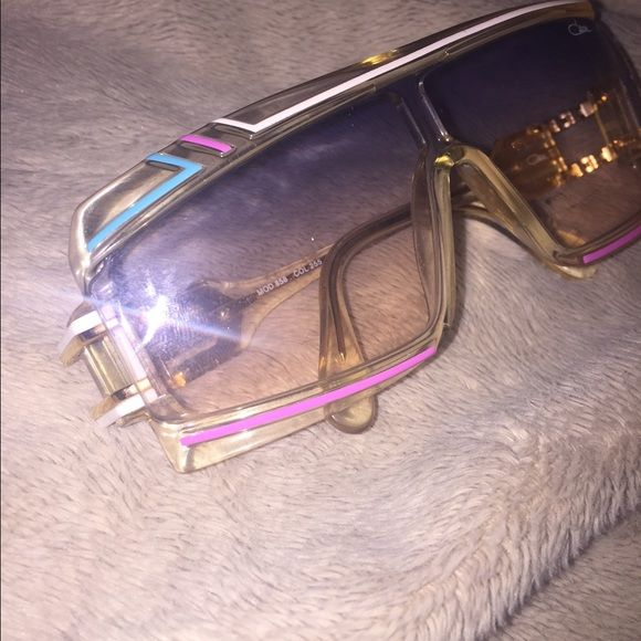 Vintage Cazal Sunglasses Vintage Cazal Sunglasses  Authentic from the 80's. Baby blue w baby pink trim. very stylish and one of my favorites but I am ready to part with them. Case is included. Willing to trade for equal price. REASONABLE OFFERS CONSIDERED ❗️ cazal Accessories Sunglasses