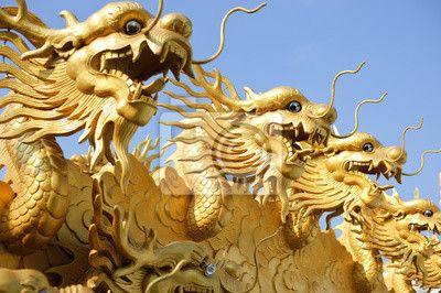 Fotobehang Chinese draak