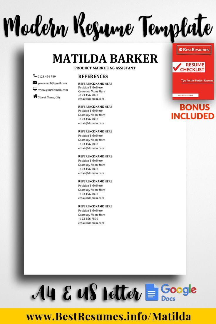 resume template matilda barker best of www bestresumes info