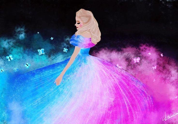 Cinderella Pink to Blue