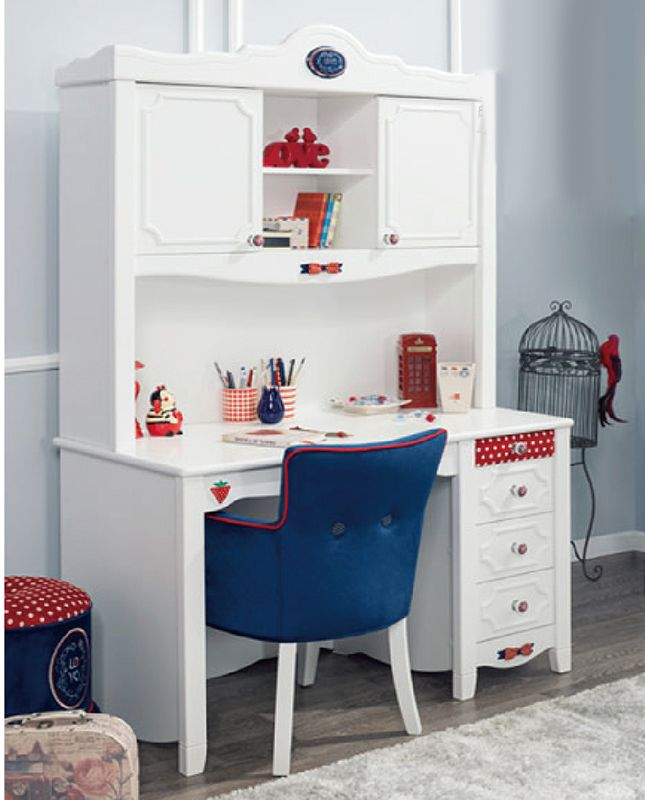 Детский белый стол с красным ящиком и рисунком клубники https://lafred.ru/catalog/catalog/detail/42901260749/