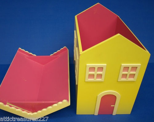 Mini Little Girls Wood Doll House Storage Toy Box  Play Room Decor | EBay