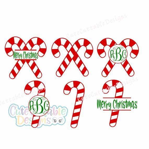 Candy Cane Svg Monogram Frame Svg Christmas Svg Christmas Monogram Svg Eps Dxf Png Cricut Silhouette C Kawaii Christmas Christmas Svg Christmas Monogram