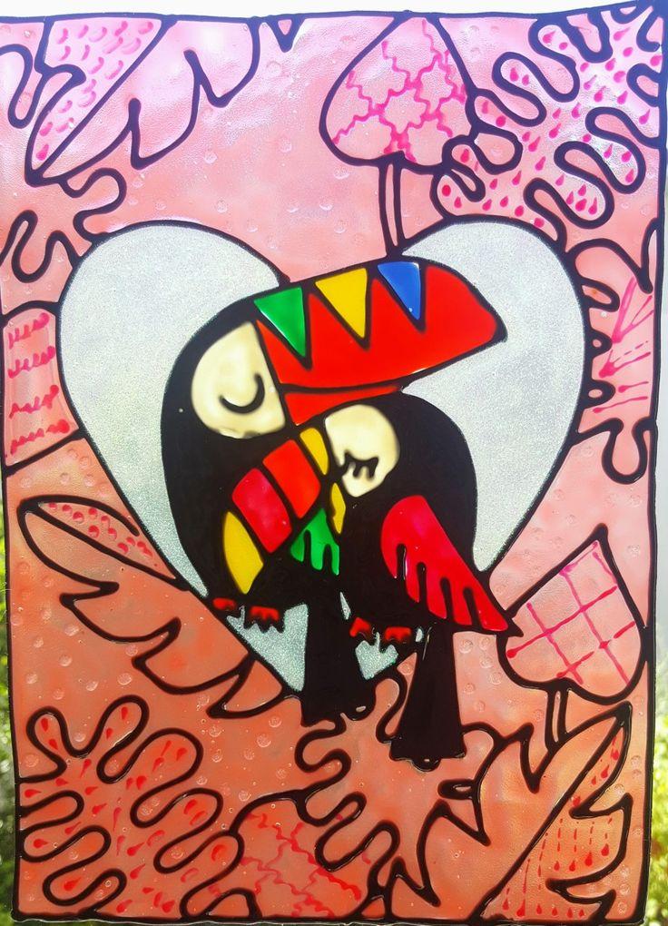Tucanos Vetrofania realizzata con window colors  Associazione ColoriAmo Vivere di Colori