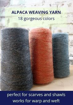 Weavers: shop now for cozy alpaca weaving yarn. 18 colors available!