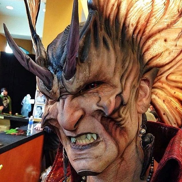 """#FBF to Monsterpalooza 2014 where Akihito (@studio_aki) brought to life """"Devil Man"""" at the PPI Premiere Products Inc. (@ppipremiereproducts) booth! *Photo by: Rich Krusell • Don't forget, Monsterpalooza RETURNS to THE PASADENA CONVENTION CENTER this April 7-9 to Celebrate the Art of Monsters & Movie Magic! • Tickets & Special rate hotel rooms are available now! ➨ WWW.MONSTERPALOOZA.COM"""