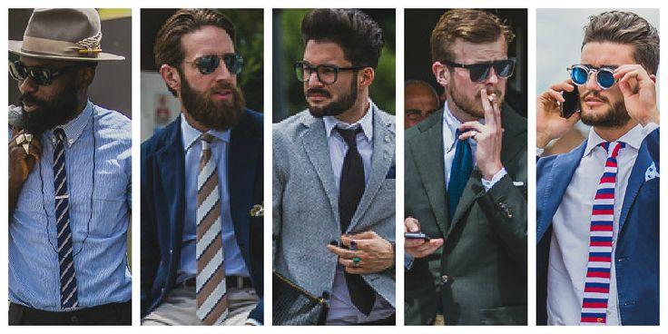 red, white, blue 90° stripe tie