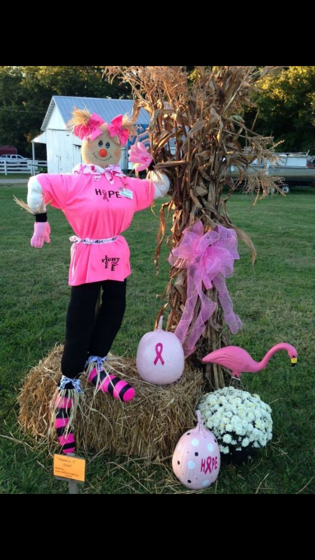 Breast Cancer Halloween decorations