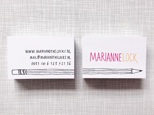 Businesscards / Made by Marianne Lock / www.maryandthelocks.nl