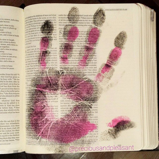I'm sure you have seen the handprint page trend going around the #biblejournaling community, well here is my take. I am not done but the prayer I am writing over it is very private. I am a nervous Nancy when it comes to ink so we did our hand prints on a clear label sheet (yes I use those for everything!) And sprayed with #modgepodge. I'm not sure if I needed to but figured it wouldn't hurt. Then I just cut it out and stuck it on my page. I pray over my marriage every day! I love having some…