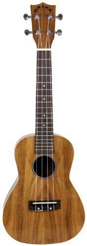 "Okina UK660 All Koa High Gloss Concert Ukulele with Aquila Strings by Okina. $99.00. ""Aloha e komo mai!"" That means ""welcome"" in Hawaiian... and Okina is happy to welcome you to the enchanting world of ukuleles. The UK660 ukulele is the koa addition to the growing Okina ukulele family. This concert-sized ukulele features a rosewood fingerboard and all-koa top, back, and sides, along with an attractive high gloss finish. Okina uses high quality koa wood to produce sw..."