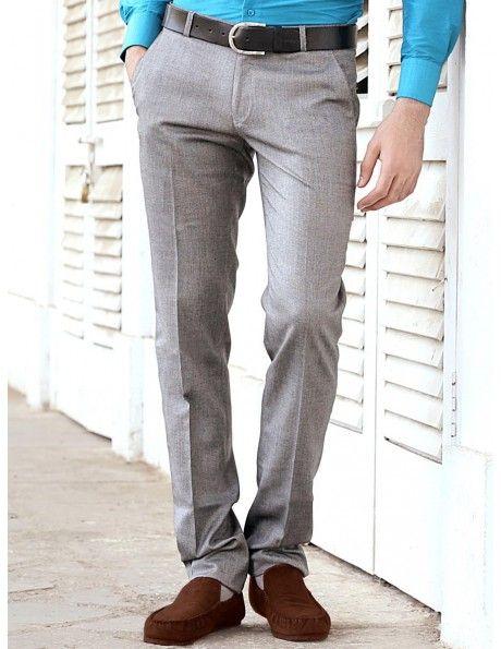 Buy Grey Formal Pants Online. http://www.bharatplaza.com/mens-wear/trousers.html