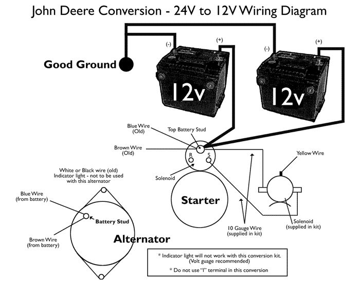 24 Volt Starting System Diagram - Wiring Diagram & Cable ... John Deere Volt Starter Wiring Diagram on