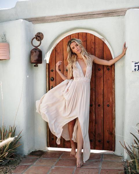5c389bd75f7 Good For My Soul Maxi Dress - Natural | Vici Dolls Clothing | Dresses,  Fashion, White dress