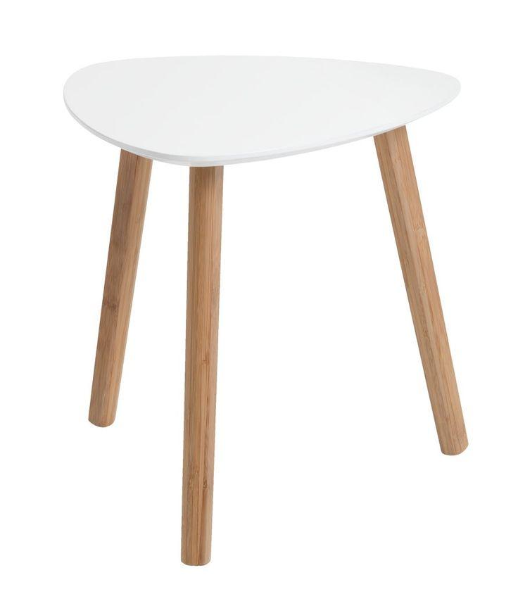 Sivupöytä TAPS pieni bambu/valkoinen   JYSK