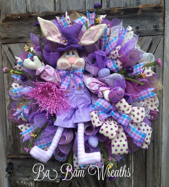 Reserved for SWEETIE Spring Wreath Lavender Wreath by BaBamWreaths
