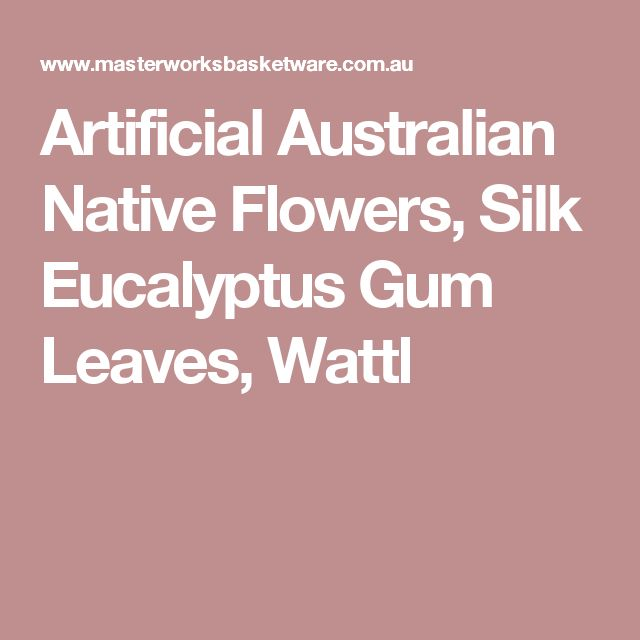 Artificial Australian Native Flowers Silk Eucalyptus Gum Leaves Wattl Birds