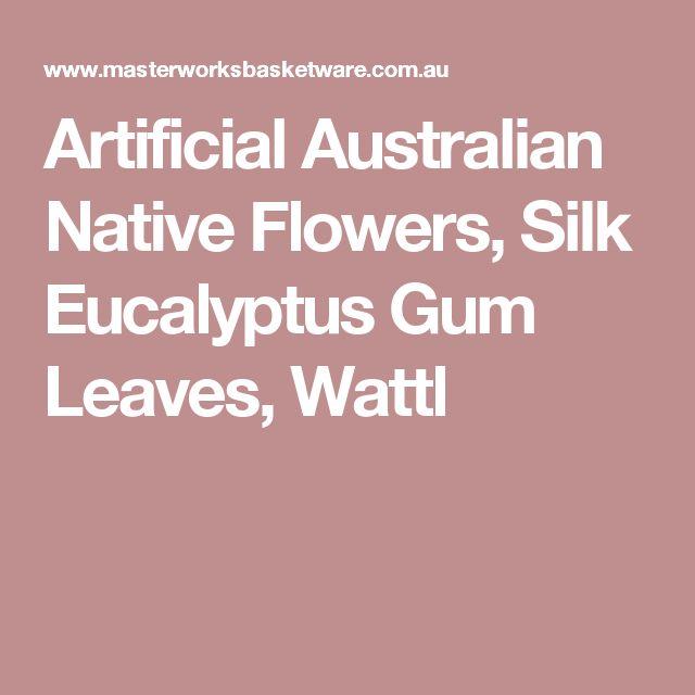 Artificial Australian Native Flowers Silk Eucalyptus Gum Leaves Wattl Birds