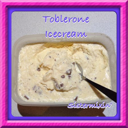 Who doesn't love Toblerone??!!  You must try this Tolberone ice-cream made by Sistermixin'  Thermomix
