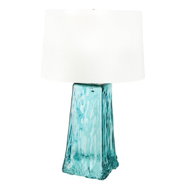 Rosecliff Heights Paquette Glass 28 Table Lamp Wayfair Table Lamp Lamp Lampshade Designs