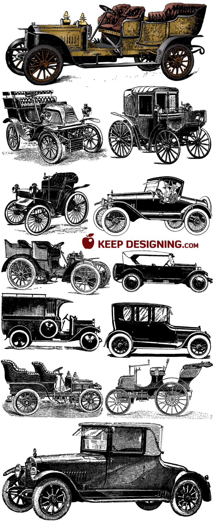 antique car printables andrea moore great for making art to hang in ts