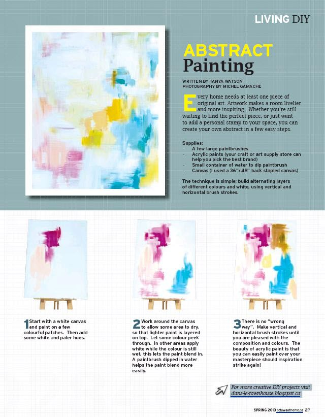 My DIY painting tutorial in Ottawa at Home magazine!